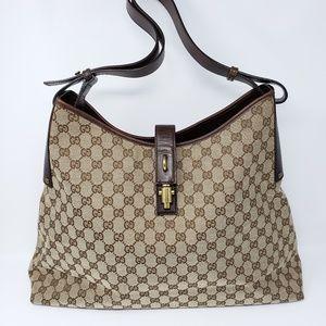 b800948805ae1e 100% Auth Gucci Canvas Large Tote Bag